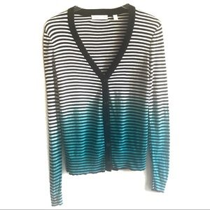 Staring at Stars Ombre Striped Cardigan Sweater S